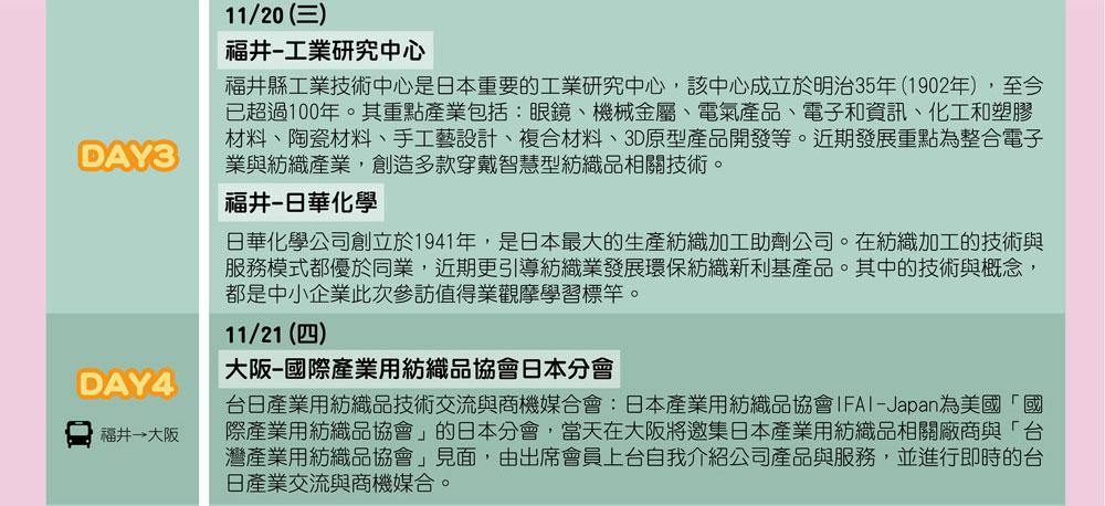 2019日本智慧化工廠考察團(11/18-11/22)