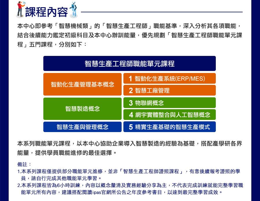 【智慧生產工程師】職能系列課程