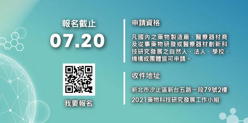 衛福部2021經濟部.藥物科技研究發展獎